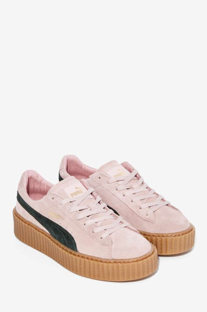 puma creepers pink suede