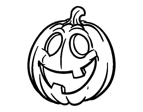 Dibujo de Calabaza de Halloween para colorear | Dibujos de Halloween ...
