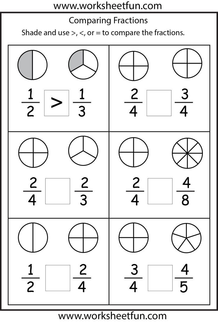 Comparing Fractions Worksheets 2nd Grade Math Worksheets Math Fractions Worksheets Fractions Worksheets