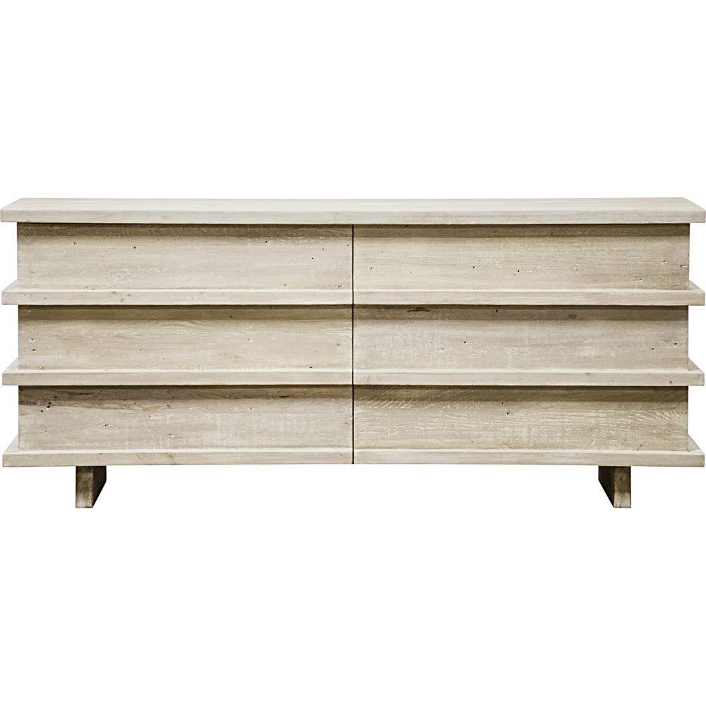 Corliss 6 Drawer Dresser White Wash Fir Wood Furniture Velvet Furniture Douglas Fir Wood [ 1000 x 1000 Pixel ]