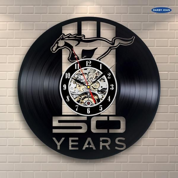Pin By Andy Julkowski On 1964 Ford Mustang In 2020 Record Clock Vinyl Record Clock Wall Clock