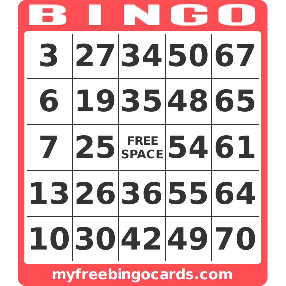Free Printable Bingo Cards – Free Ticket Generator