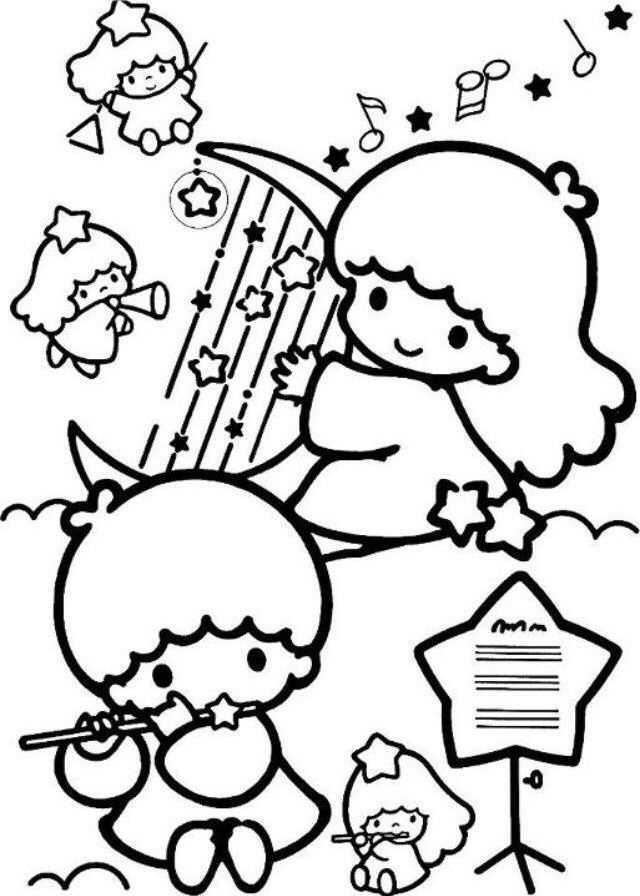 Pin By Komkrit Chaiyarerk On Sanrio Star Coloring Pages Hello Kitty Colouring Pages Cute Coloring Pages