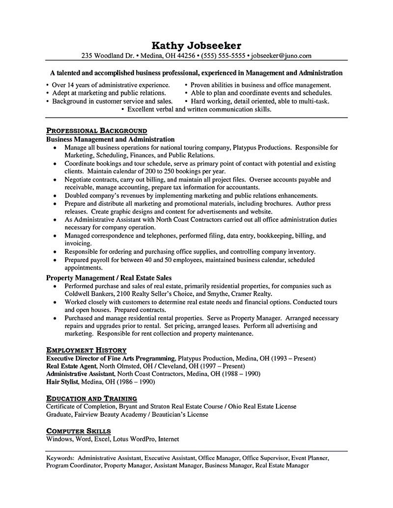 property managers resume
