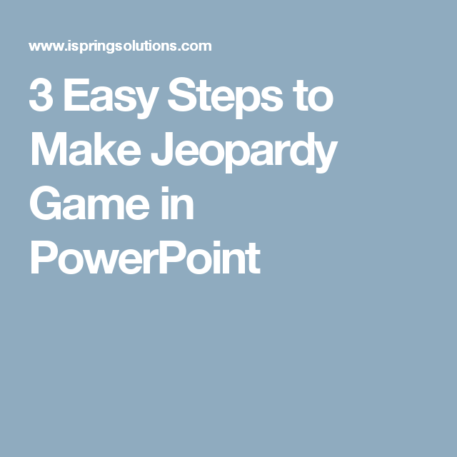 3 easy steps to make jeopardy game in powerpoint | family worship, Powerpoint templates