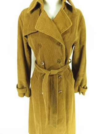 classic style strong packing classic chic Vtg 70s Corduroy Trench Coat Overcoat Women 9-10 | Vintage ...