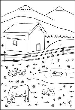 1080 Uhd Ausmalbilder Haus Und Bauernhoftiere Clipart Pack