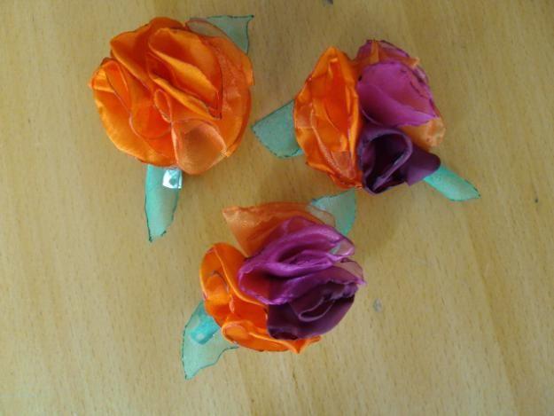 Flores De Tela y a crochet, Hebillas, Prendedores. - Belgrano - Ropa - Accesorios - Canita - flores prendedores a crochet