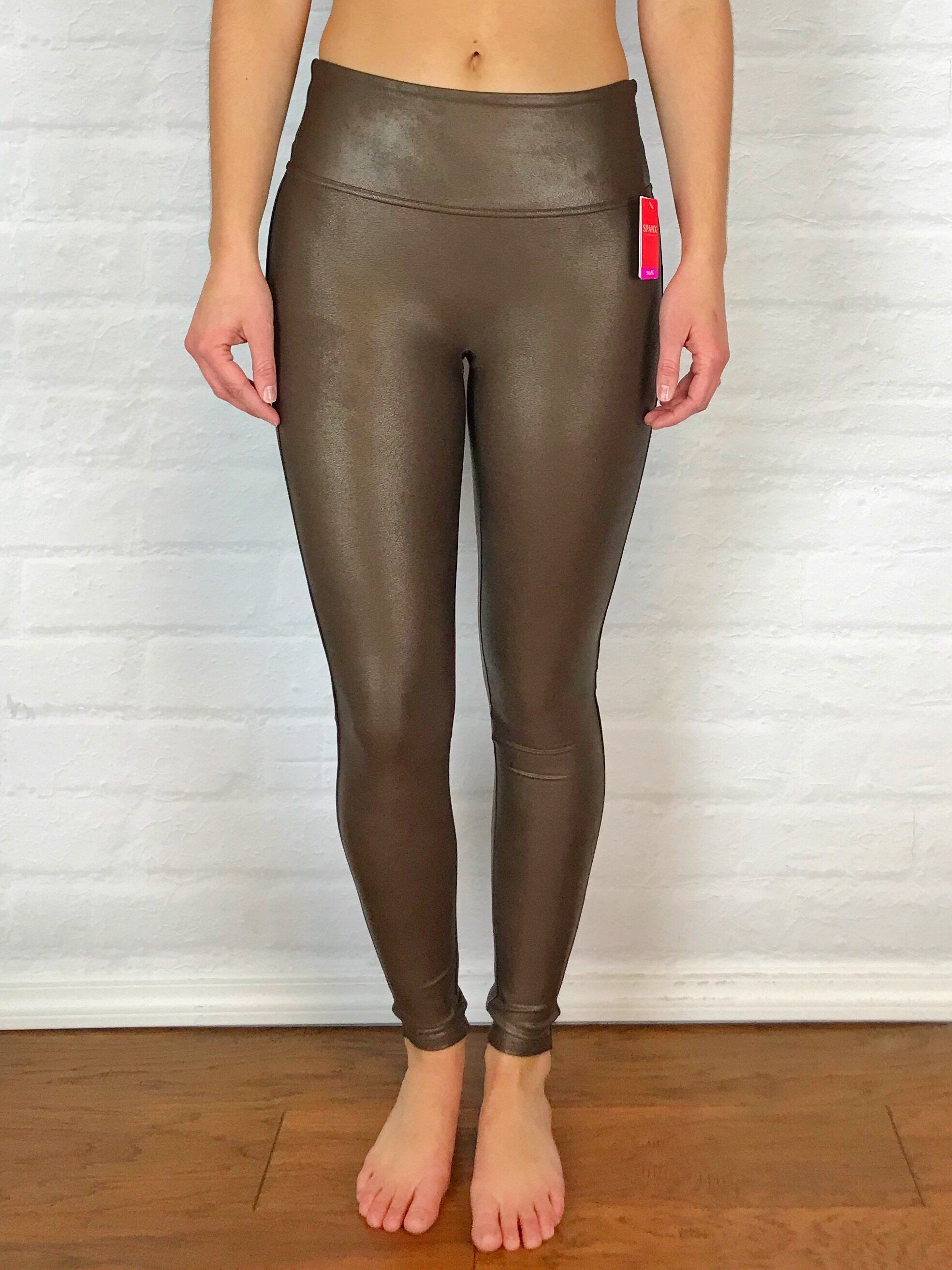 299fac039bf1e Spanx Faux Leather Leggings in Bronze Metal | Fashion | Spanx faux ...