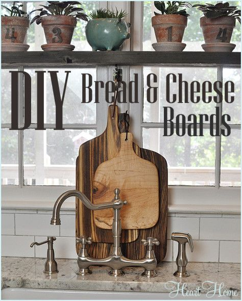 DIY Bread and Cheese Board - All Things Heart and Home