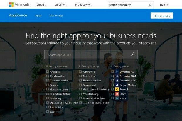 Microsoft appears to be building a business app marketplace