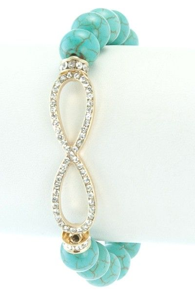 Pink Thread Boutique - Infinity Turquoise Bracelet, $21.00 (http://www.pinkthreadboutique.com/infinity-turquoise-bracelet/)