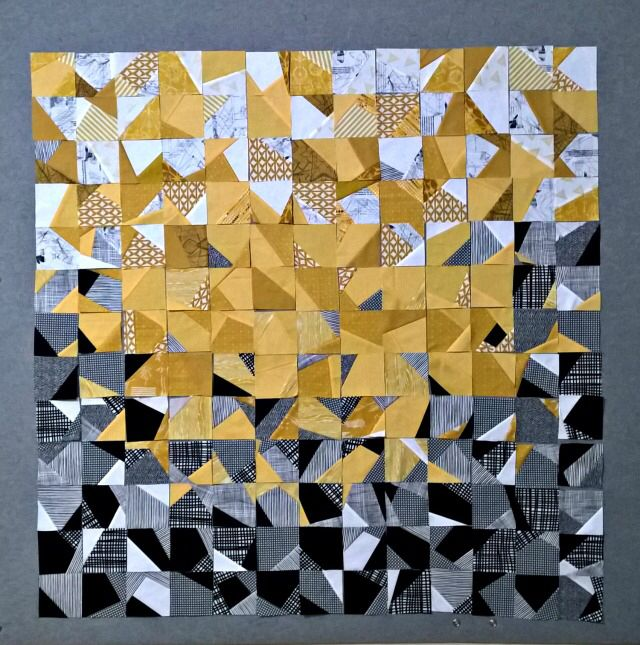 /Modern Quilt Inspired by Cubist Painter Georges Braque Finished Quilt Braque Quilt Pattern 60 x 76