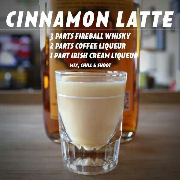 Fireball Whiskey Cinnamon Latte Shot