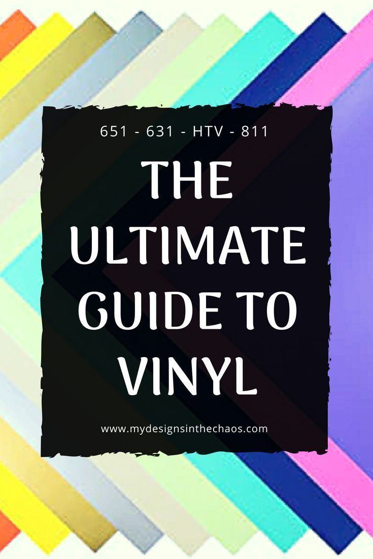 Types of Vinyl  My Designs In the Chaos Vinyl Types is part of Cricut projects vinyl, Stencil vinyl, Cricut vinyl, Vinyl crafts, Vinyl cutting, Vinyl cutting machines - There is a variety of vinyl on the market and in this post we give you an overview of types of vinyl and what to use the types of vinyl for