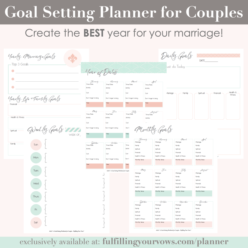 Goal Setting Planner For Couples