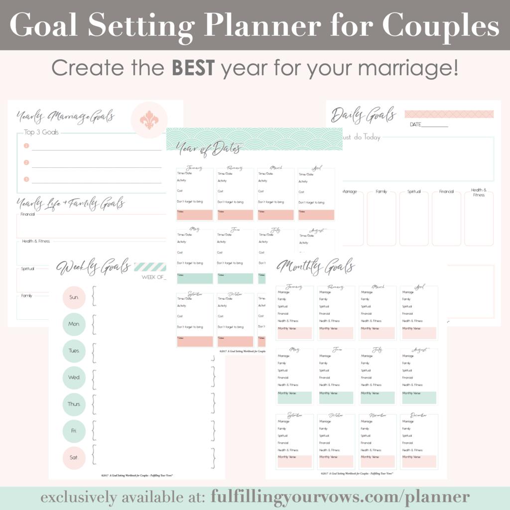 Goal Setting Planner For Couples