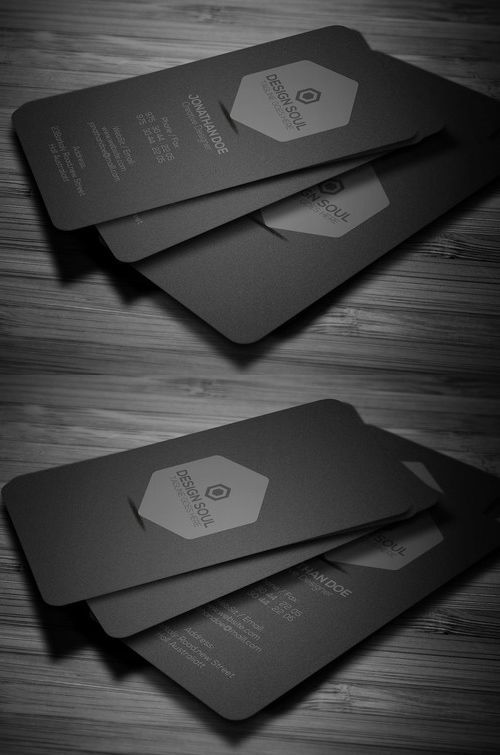 Minimal Dark Business Card Business Cards Design Pinterest - medical business card templates