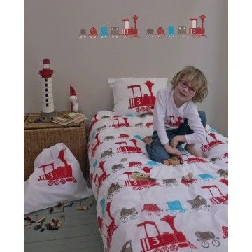 Housse De Couette Locomotive Bambins Deco Childrens Beds Bed Decor Kid Room Decor