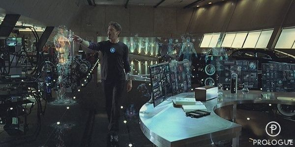 Iron Man House Interior. Tony Stark s Garage Desk  This is the dream I want this program house ideas Pinterest Iron Desks and Men cave