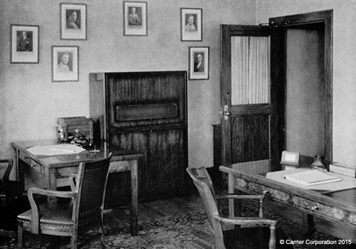 Carrier's 1st room air conditioners 1933 Room air