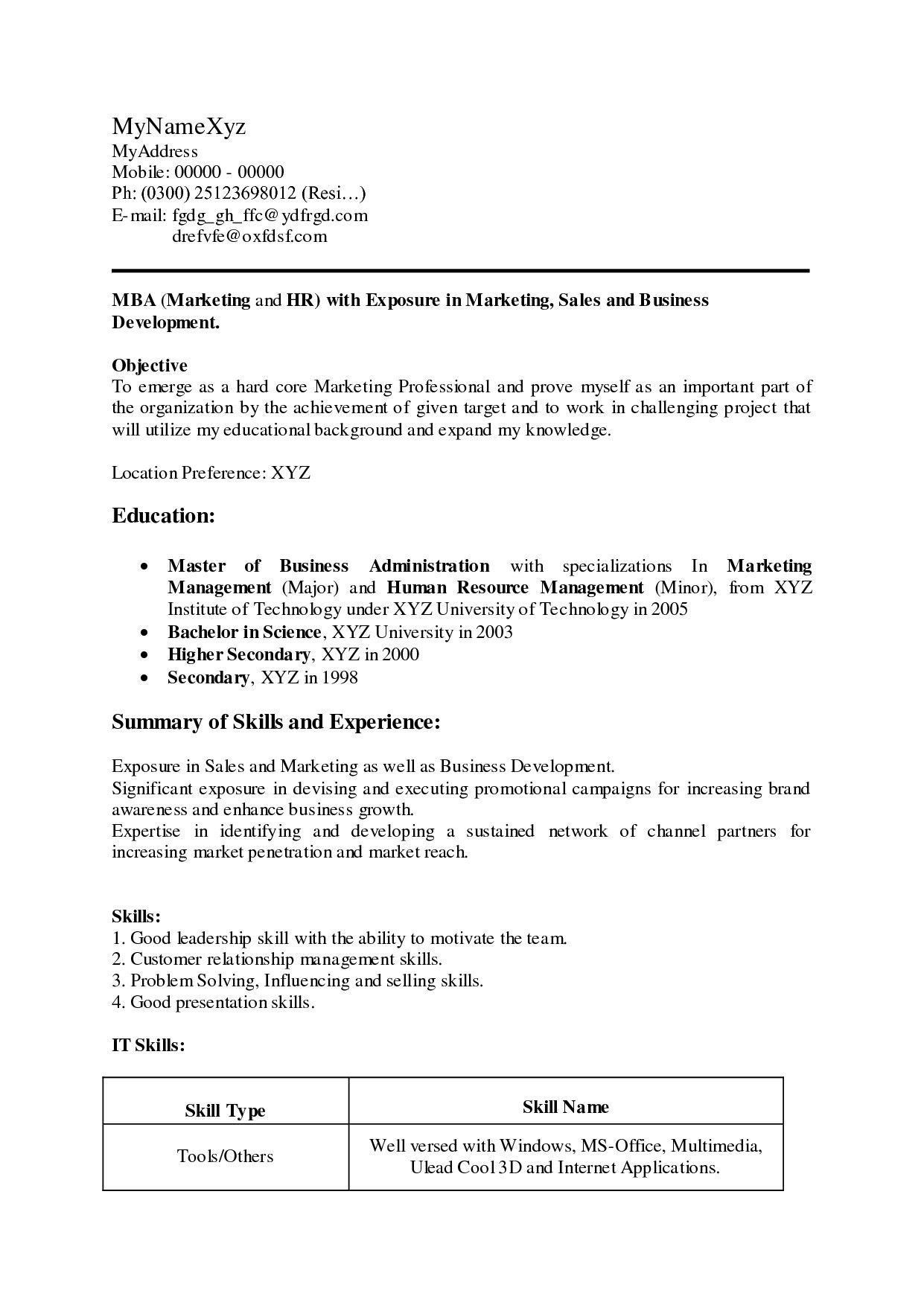 Pin by Waldwert Site on Resume Formats Career objectives