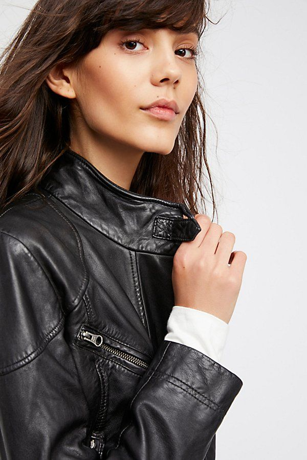 Fitted And Rugged Leather Jacket People
