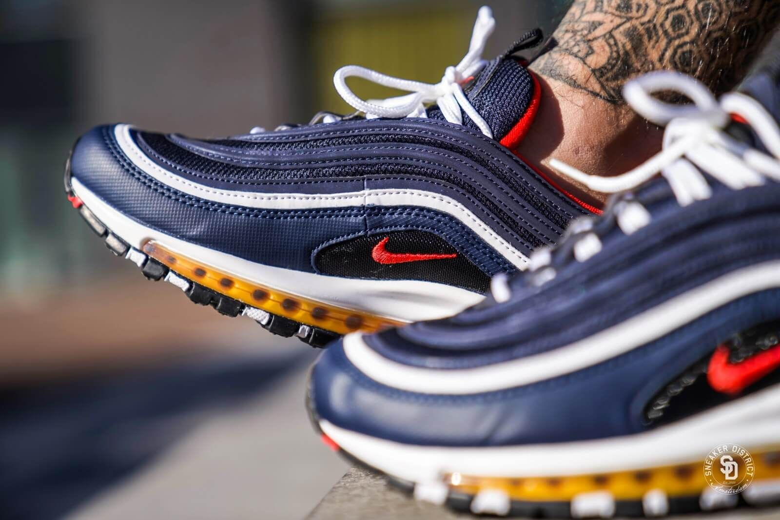 uk availability c5fcc 8aeaa Nike Air Max 97 Midnight NavyHabanero Red-Black - 921826-403