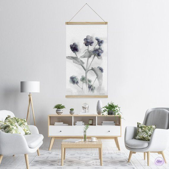Botanical Flower Print On Canvas Floral Home Decoration Modern - Decorative-floral-print-chairs-from-floral-art