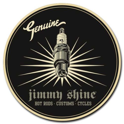 SO-CAL-SPEED-SHOP-JIMMY-SHINE-SPARK-PLUG-TIN-SIGN-MOTORCYCLES-RAT-HOT-ROD-CUSTOM