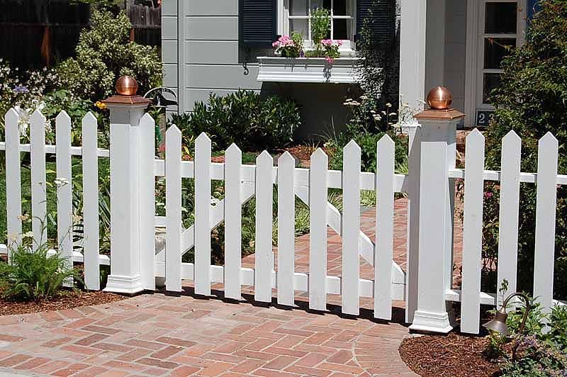 picket fence gate with arbor. fence on a slope pinterest picket garden front and fenced gate with arbor e