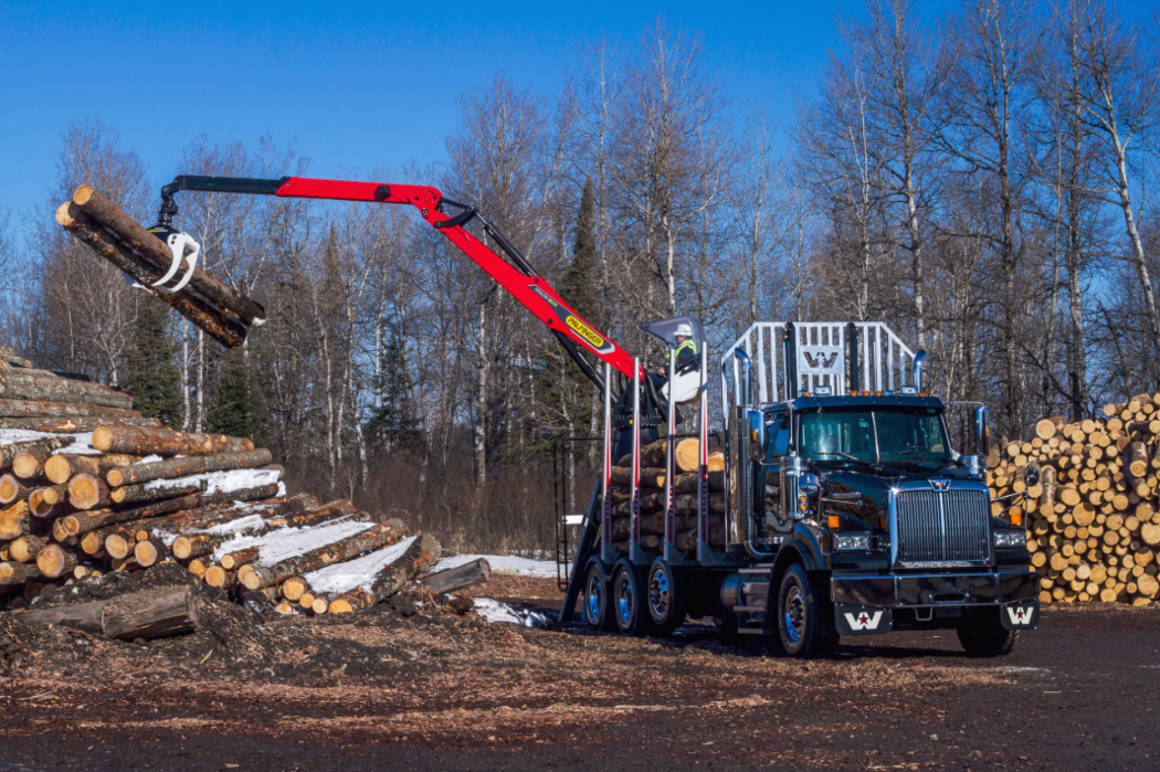 Western Star Partners With Palfinger On New Log Truck Trucks Western Star Trucks New Trucks