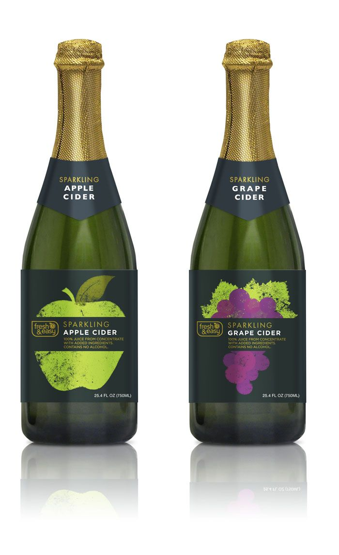 Fresh & Easy Sparkling Apple Ciders Beverage packaging