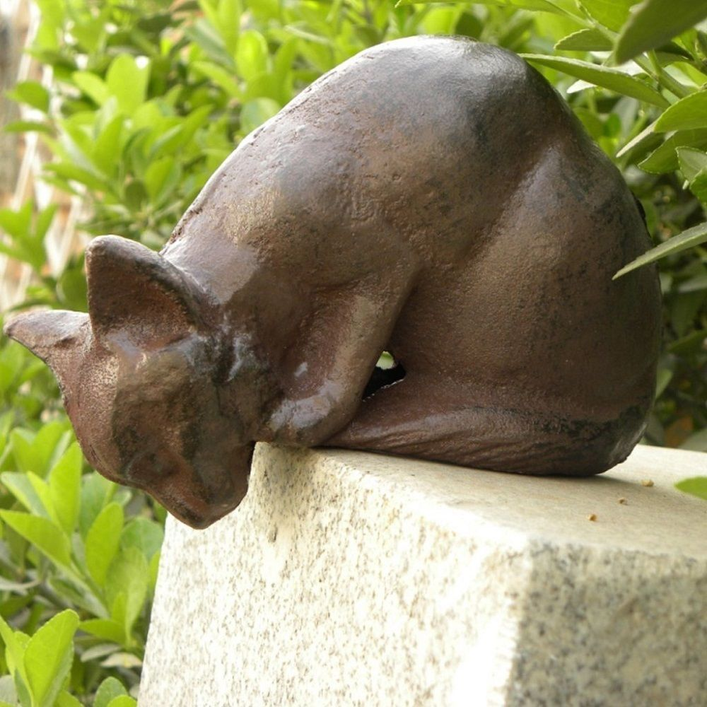 Vintage Antique Cast Iron Cat Sculpture Garden Patio Outdoor Statue ...