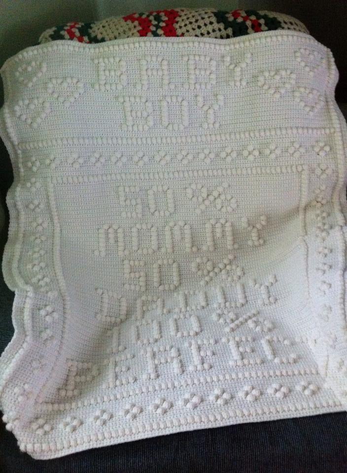 Crib afghan 50% mommy | crochet | Pinterest