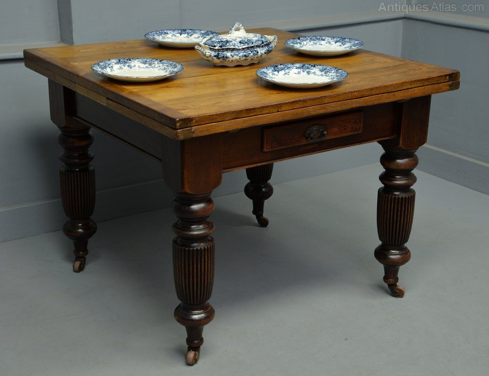 Victorian Mahogany Pine Extending Dining Table Antique Dining