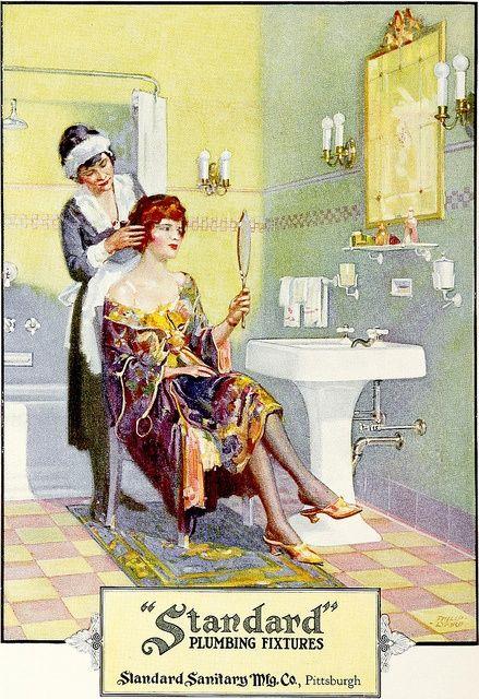 Standard Plumbing Fixtures 2 1922 Bathroom Vintage Ads