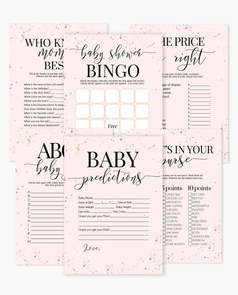 Elegant Blush Pink Baby Shower Games, Blush Pink And Gold Baby Shower, DIY  Baby Shower Ideas, Girl Baby Shower Ideas, Boy Baby Shower.