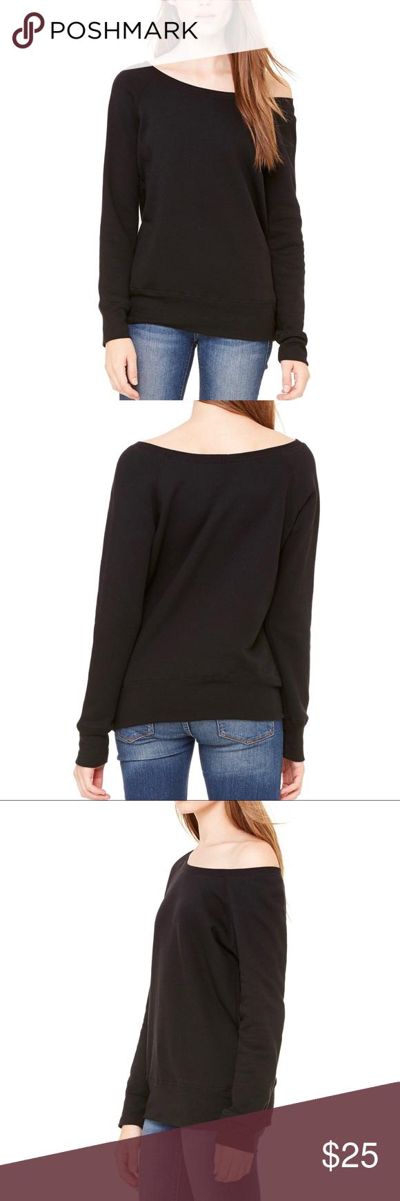 Bella & Canvas Slouchy Fleece Small - 2XL Available ❤️ Bella & Canvas Sweaters Crew & Scoop Necks