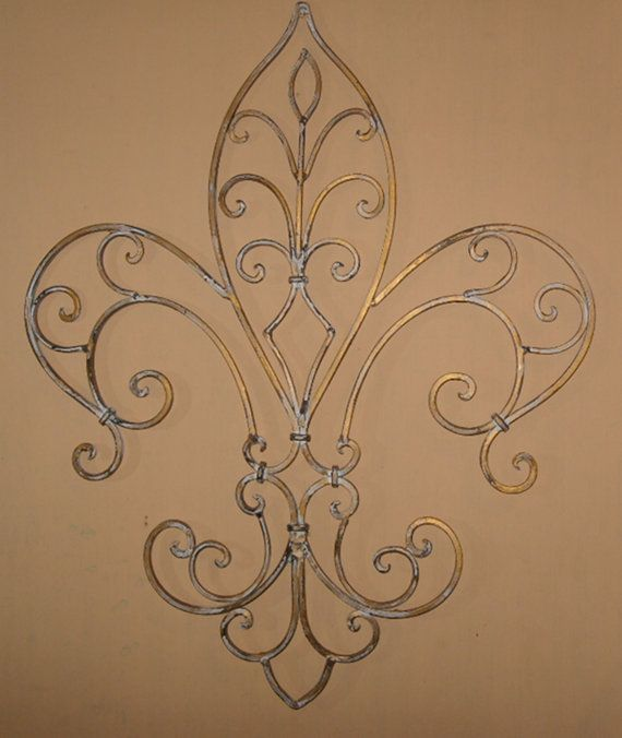 New Orleans Wall Decor metal wall decor / wrought iron / fleur de listheshabbyshak