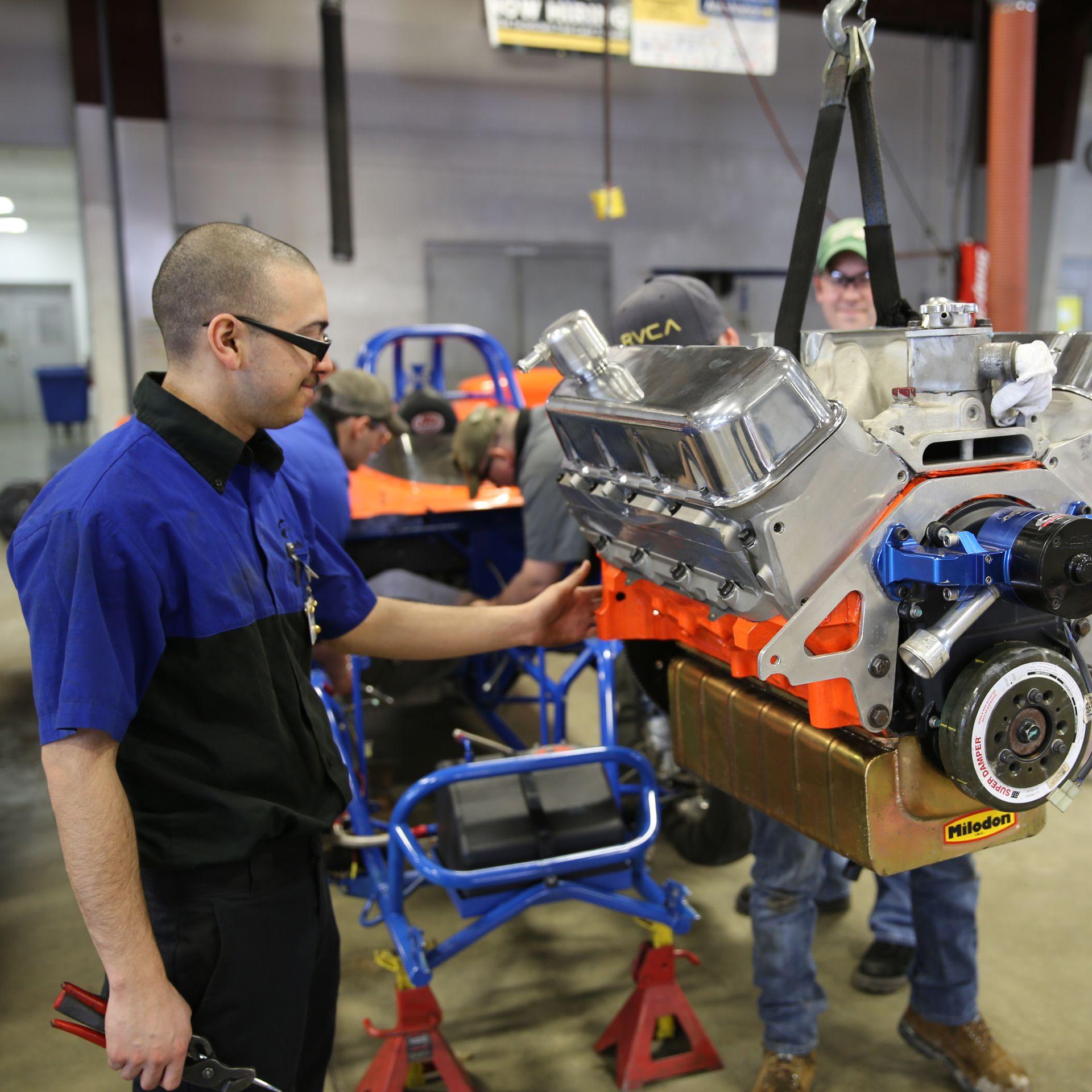 Wyotech Students Learn About Drivetrain Systems Auto Mechanic School Mechanic School Automotive Technician