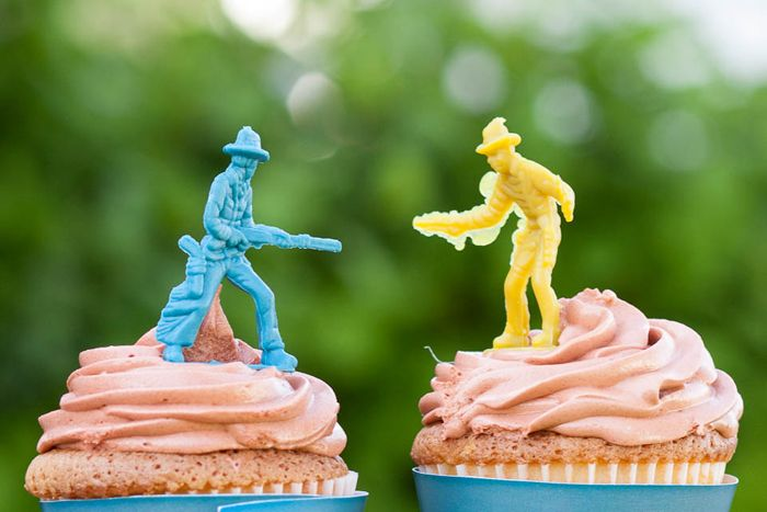 cowboy cupcakes   {yes, it is my party via Amy Atlas}