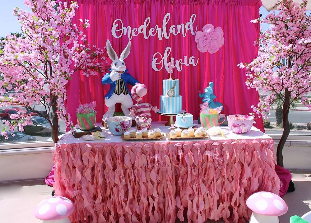 Alice In Wonderland Birthday Party Ideas 1st Birthday Party For