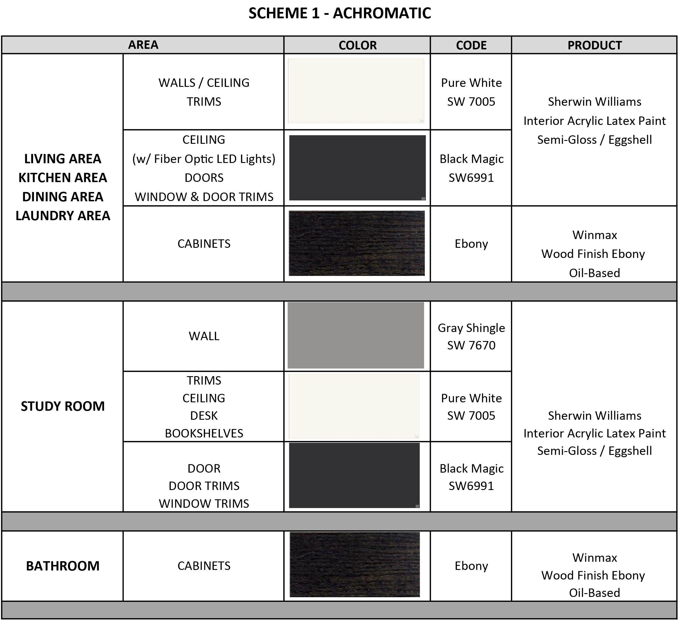 Assignment 6 Scheme 1 Achromatic With Images Interior Design