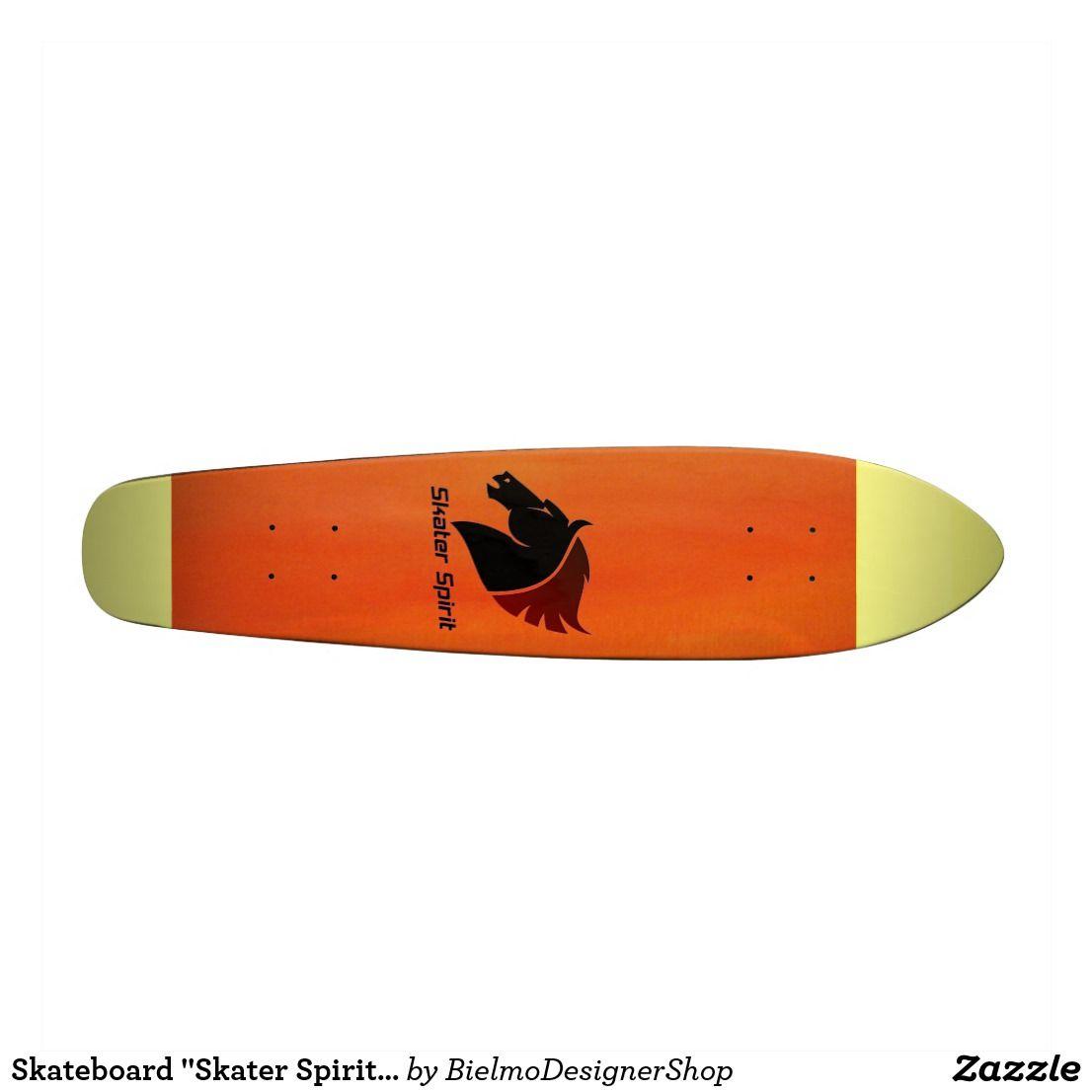 """Skateboard """"Skater Spirit""""Orangerot&gelbe Streifen"""