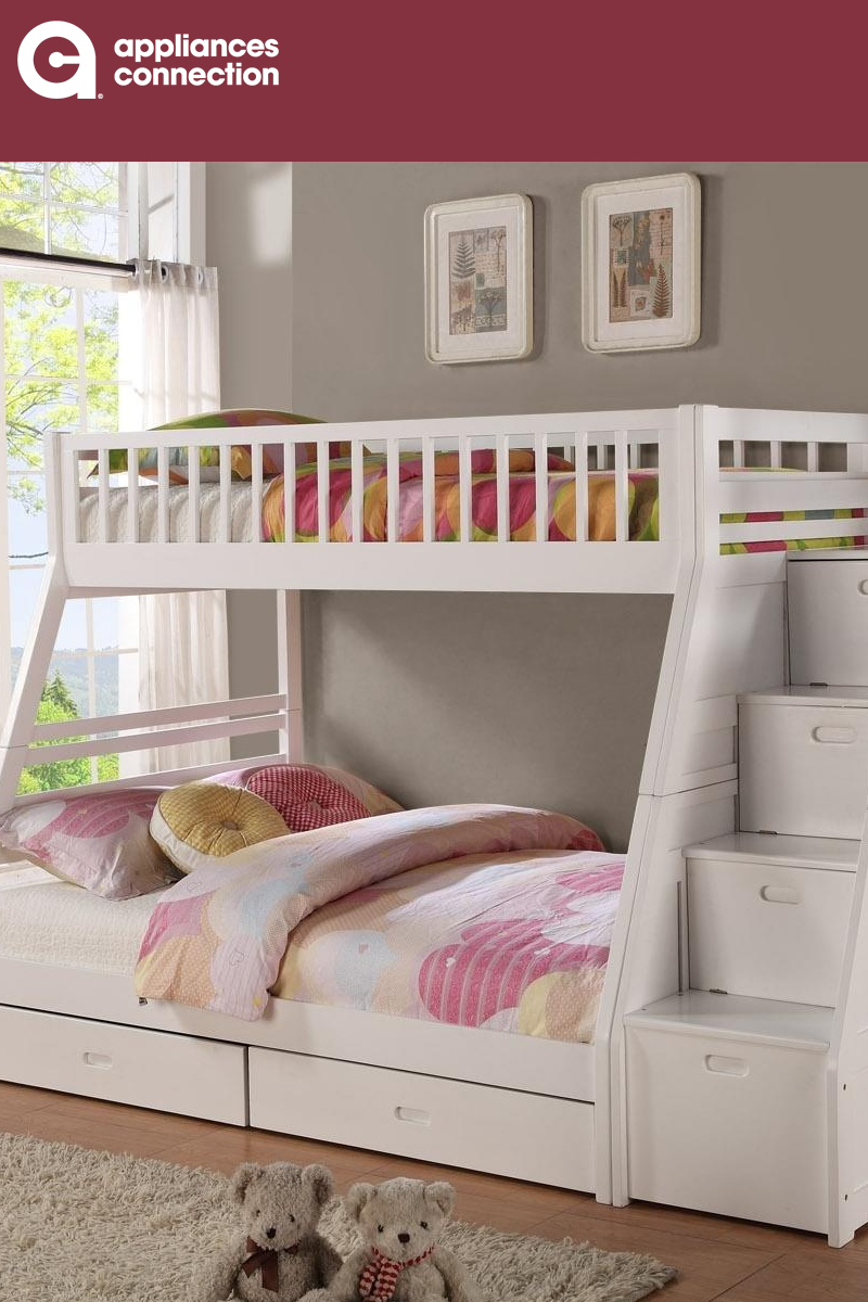 Bella Esprit 45192whabc 849 00 In 2021 White Bunk Beds Bunk Beds With Storage Bunk Beds With Drawers