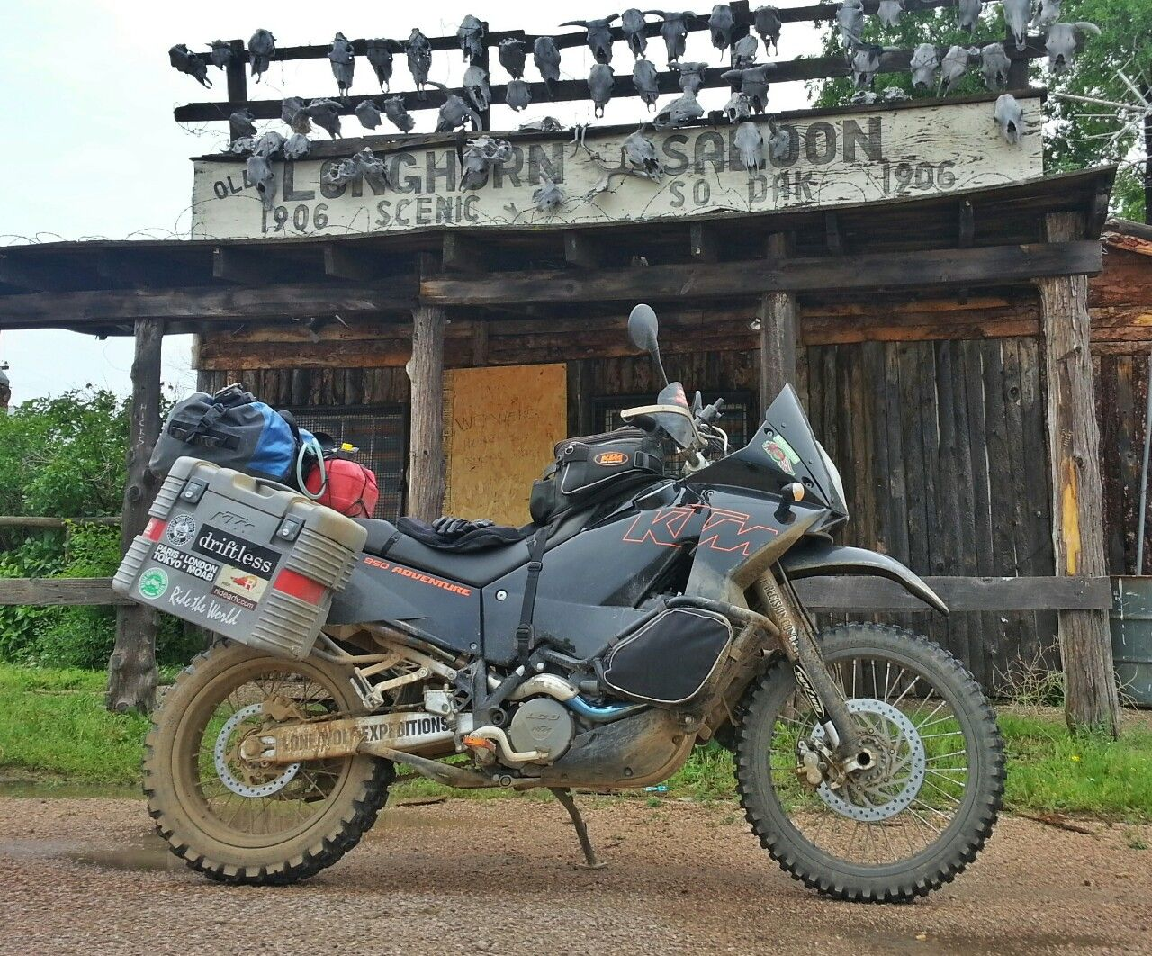 motographic:  Trans South Dakota Adventure Trail. Nearly abandoned town of Scenic.