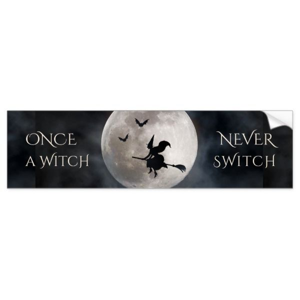 Witch switch halloween funny bumper sticker halloween holiday creepyhollow stickers
