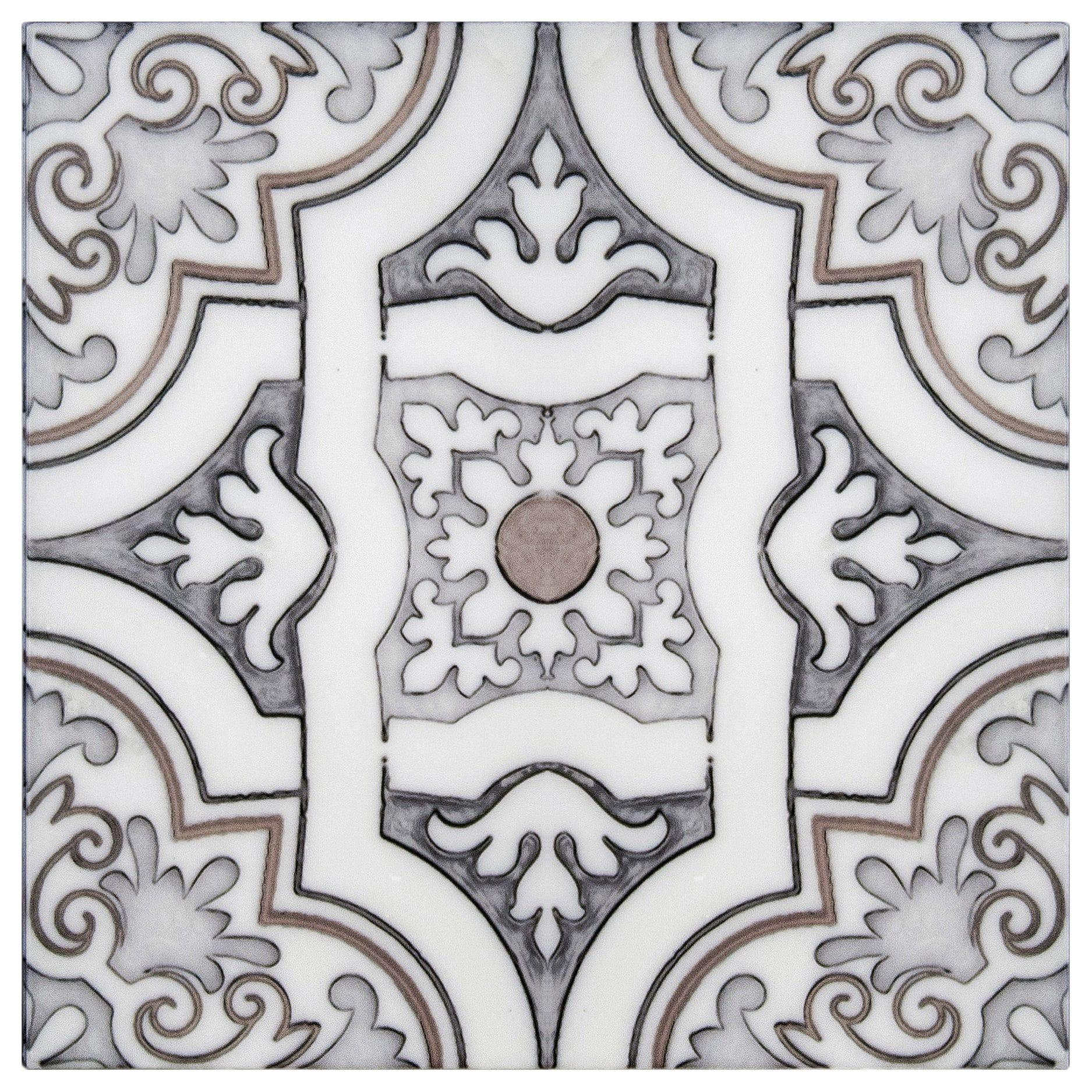 Unique Art Deco Tiles Hand Crafted On 6x6 12x12 Carrara Marble For Bathroom Flooring Kitchen Backsplash Fi Artisan Stone Tile Artisan Tiles Art Deco Tiles