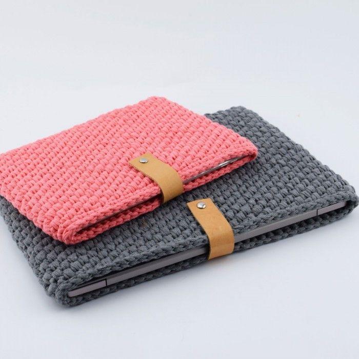 Gehäkelte Laptop-Hülle Anleitungen Hobbii #crochethooks